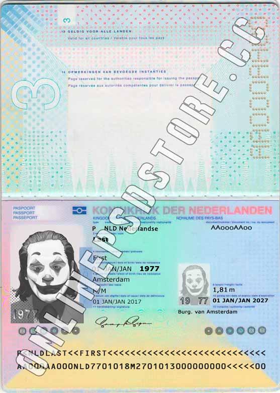 NETHERLANDS PASSPORT